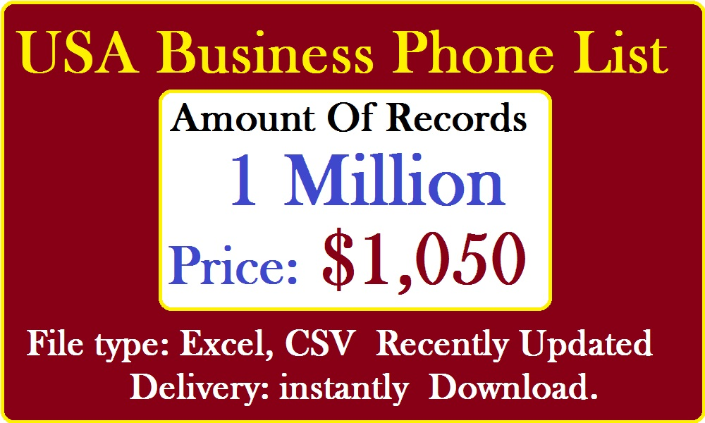 USA Business Phone Numbers List