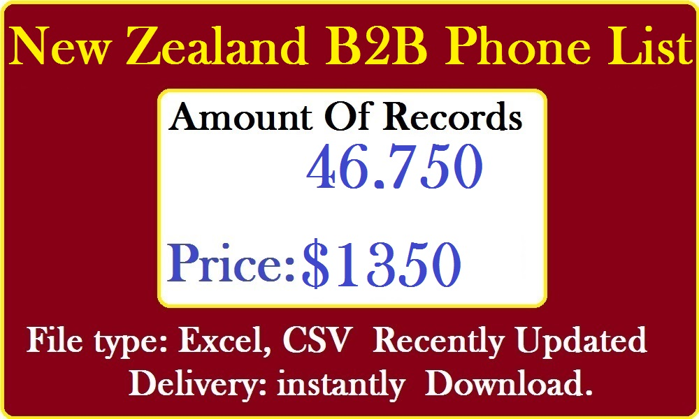 New Zealand Business Phone Number Lists