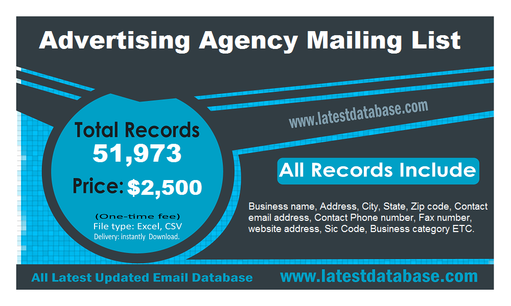 Advertising Agency Mailing List