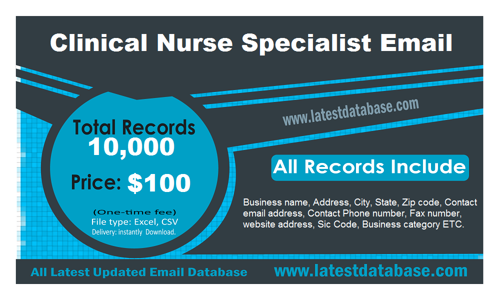 Clinical Nurse Specialist Email List