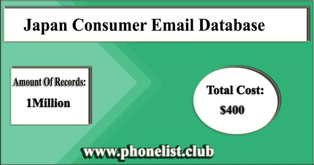 Japan Consumer Email Database