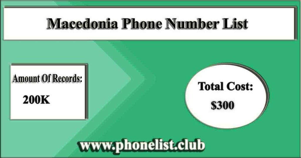 Macedonia Phone Number List