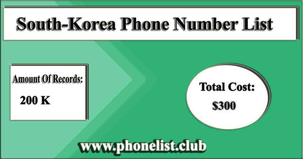 South-Korea Phone Number List
