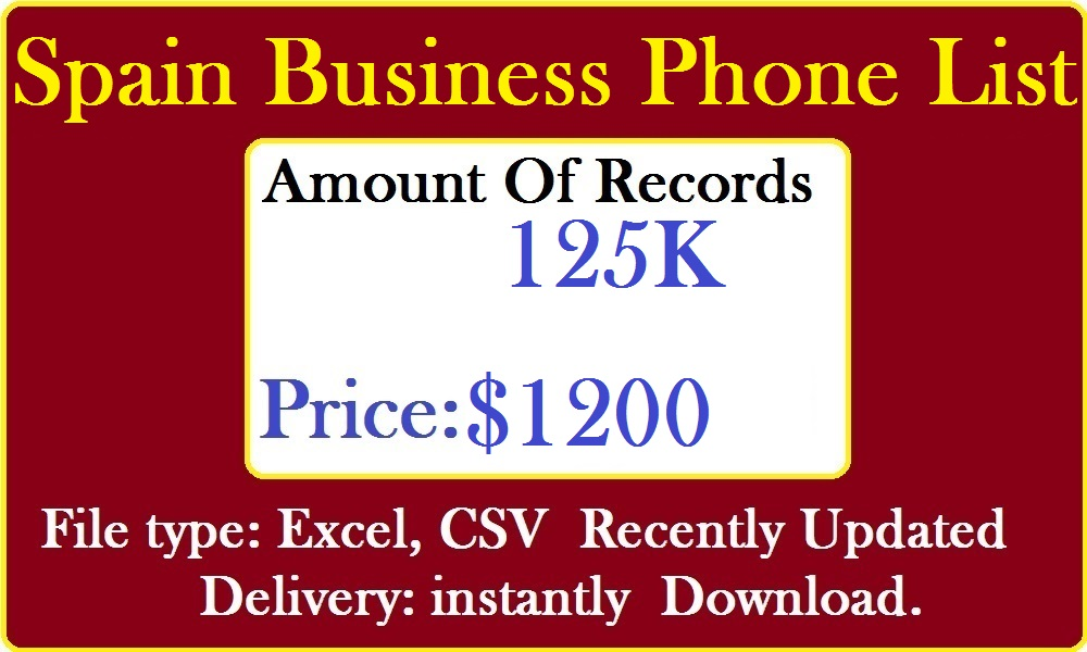 Spain Business Phone Number Lists