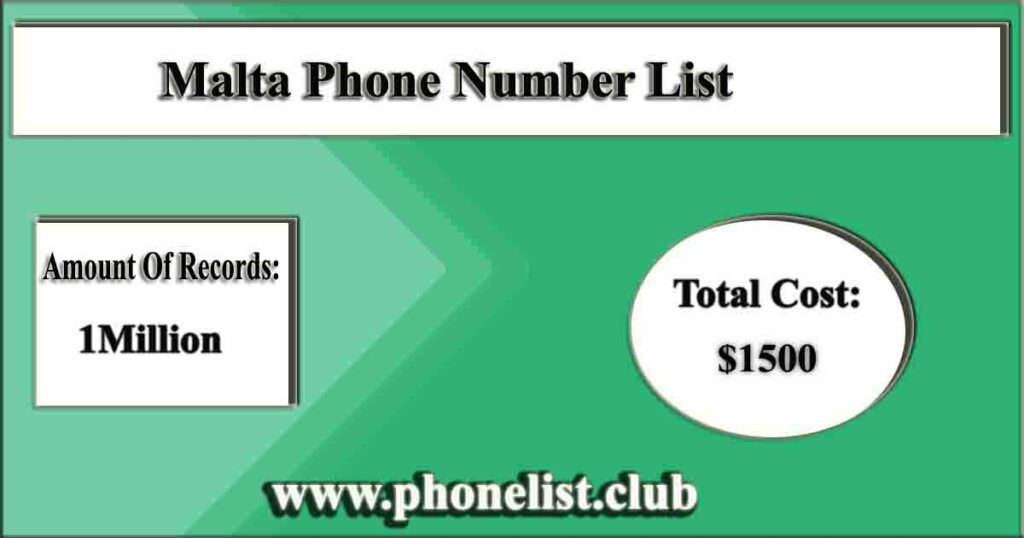 Malta Phone Number List