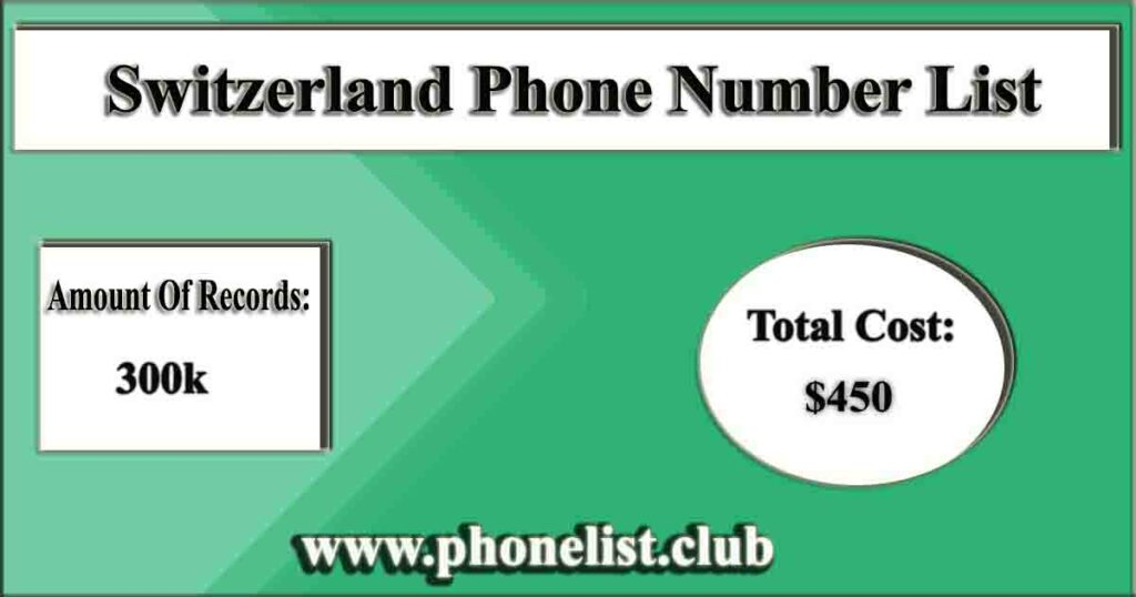 Switzerland Phone Number List