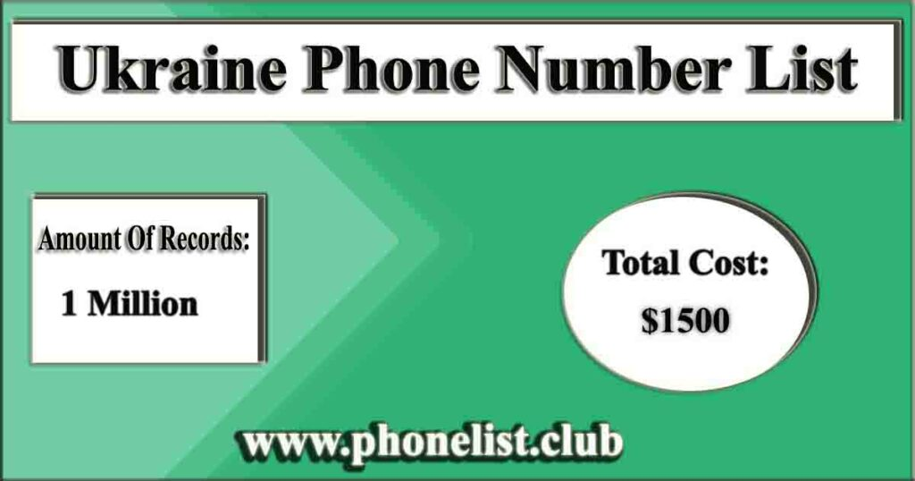 Ukraine Phone Number List